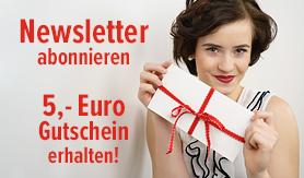 Newsletter abonnieren und Gutschein sichern